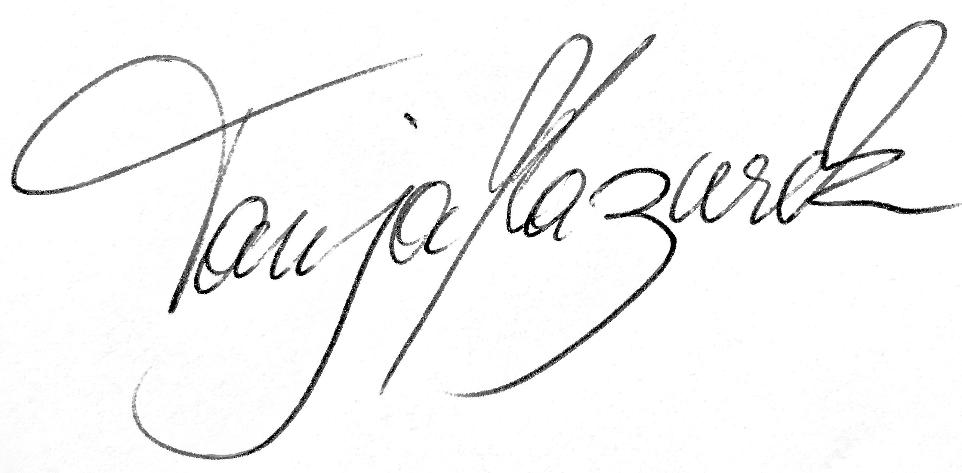 Tanja Mazurek Unterschrift